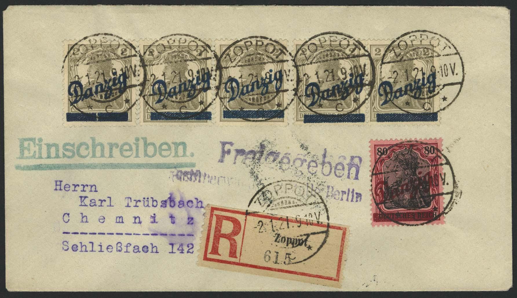 Lot 6031 - danzig Markenausgaben & Frankaturen -  Auktionshaus Ulrich Felzmann GmbH & Co. KG