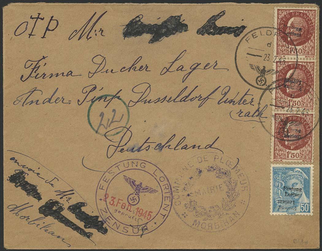 Lot 6242 - Deutsche Besetzungsgebiete II. Weltkrieg frankreich - festung lorient -  Auktionshaus Ulrich Felzmann GmbH & Co. KG