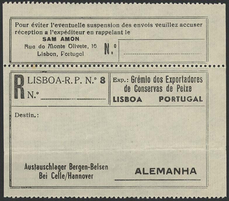 Lot 6280 - Lagerpost II. WK Post der NS-Verfolgten 1933-1945 - Konzentrationslager -  Auktionshaus Ulrich Felzmann GmbH & Co. KG