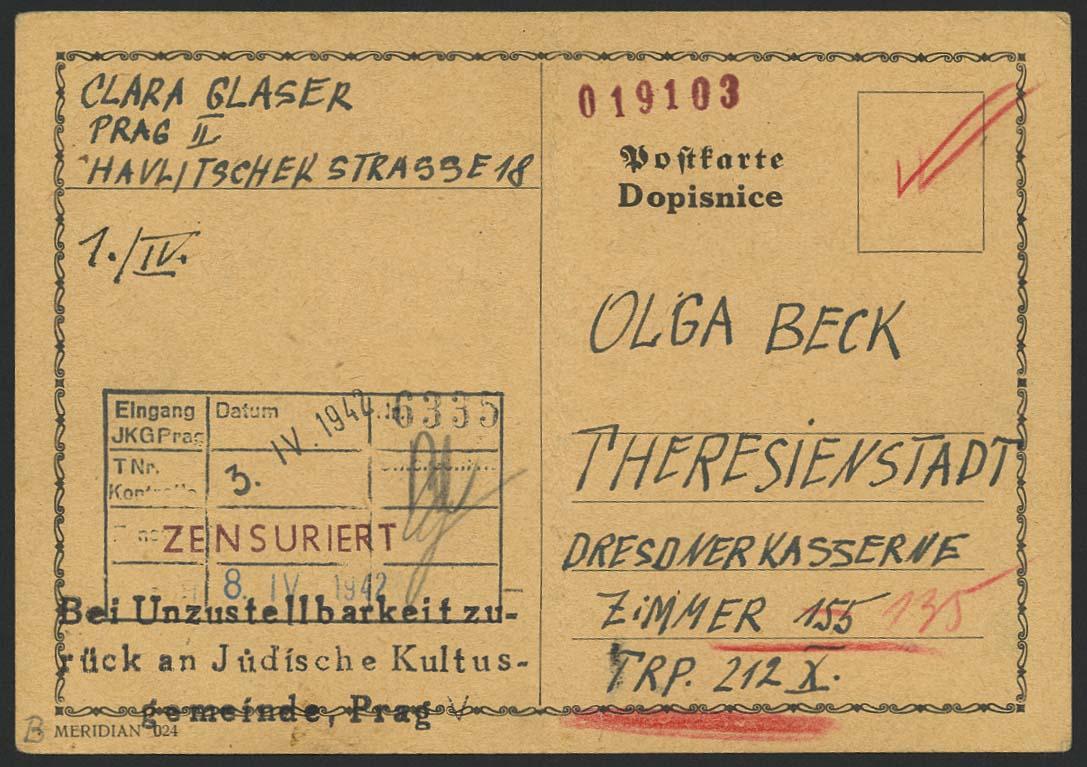 Lot 6291 - Lagerpost II. WK Post der NS-Verfolgten 1933-1945 - Ghettos -  Auktionshaus Ulrich Felzmann GmbH & Co. KG