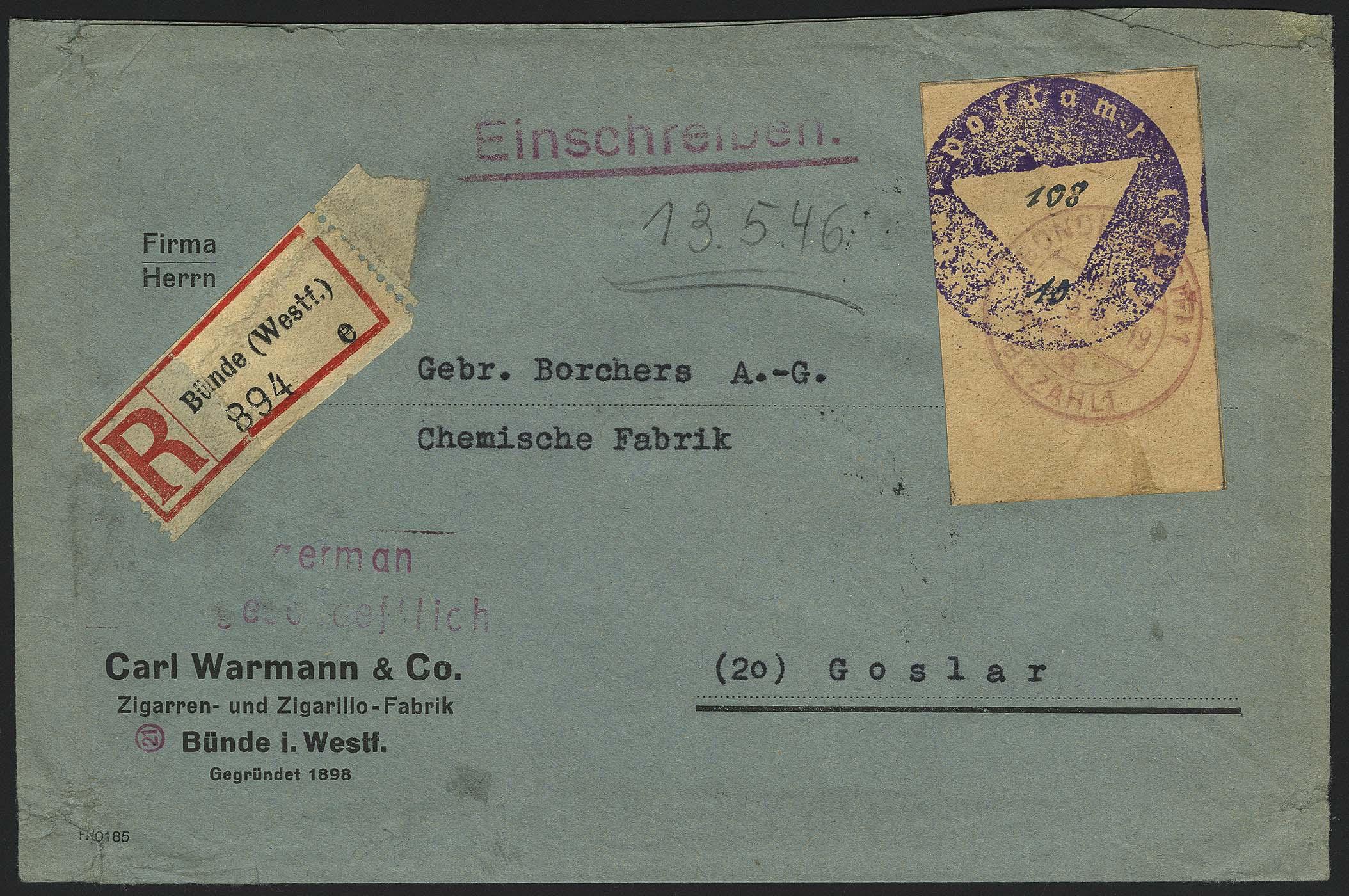 Lot 6332 - lokalausgaben bünde -  Auktionshaus Ulrich Felzmann GmbH & Co. KG