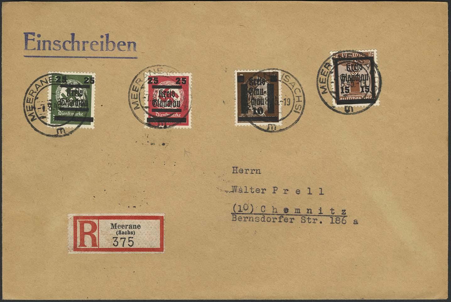 Lot 6338 - lokalausgaben glauchau -  Auktionshaus Ulrich Felzmann GmbH & Co. KG
