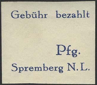 Lot 6347 - lokalausgaben spremberg -  Auktionshaus Ulrich Felzmann GmbH & Co. KG