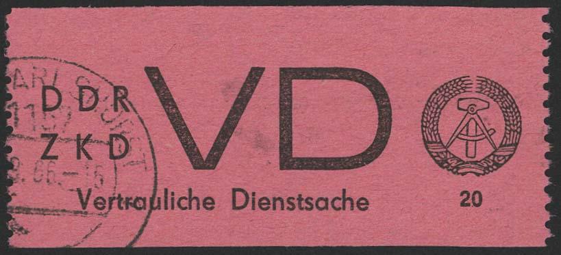 Lot 6469 - ddr Dienstmarken - Dienst D (Vertrauliche Dienstsachen) -  Auktionshaus Ulrich Felzmann GmbH & Co. KG