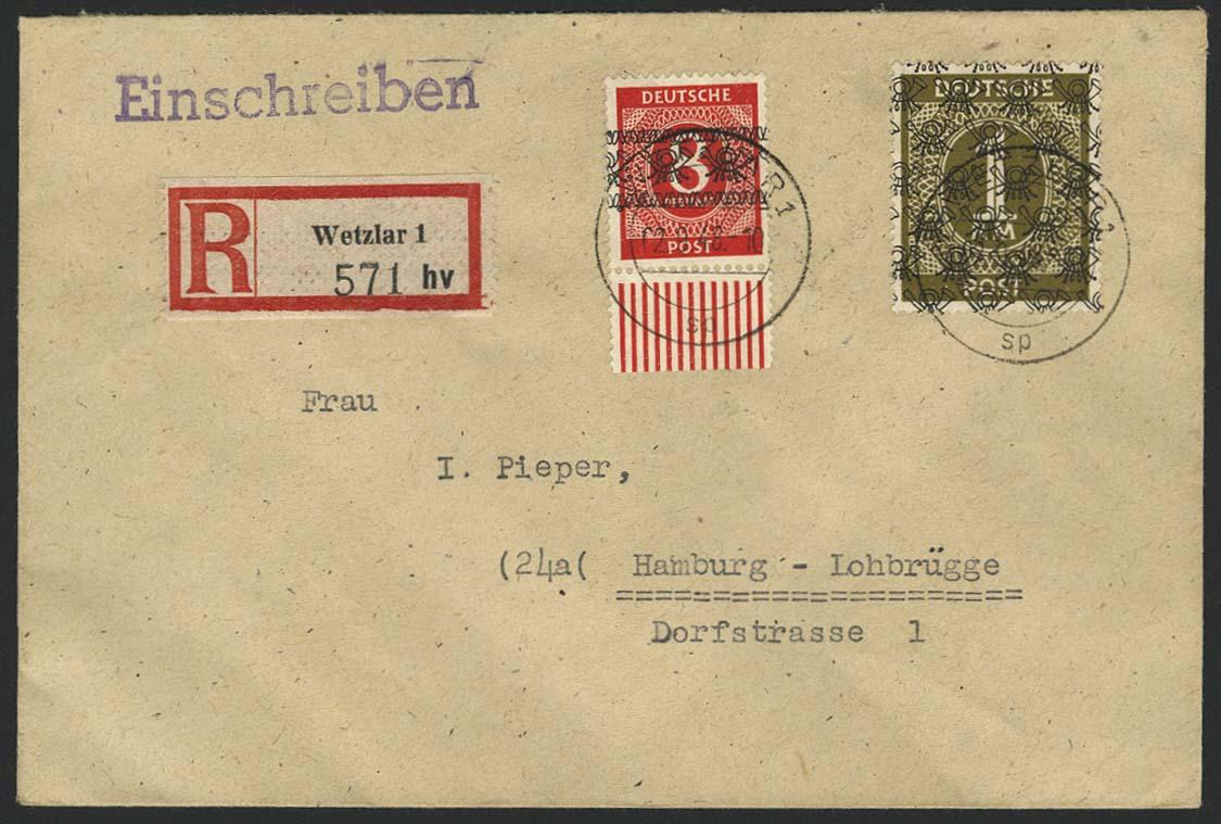 Lot 6537 - bizone Band-/Netzaufdrucke -  Auktionshaus Ulrich Felzmann GmbH & Co. KG