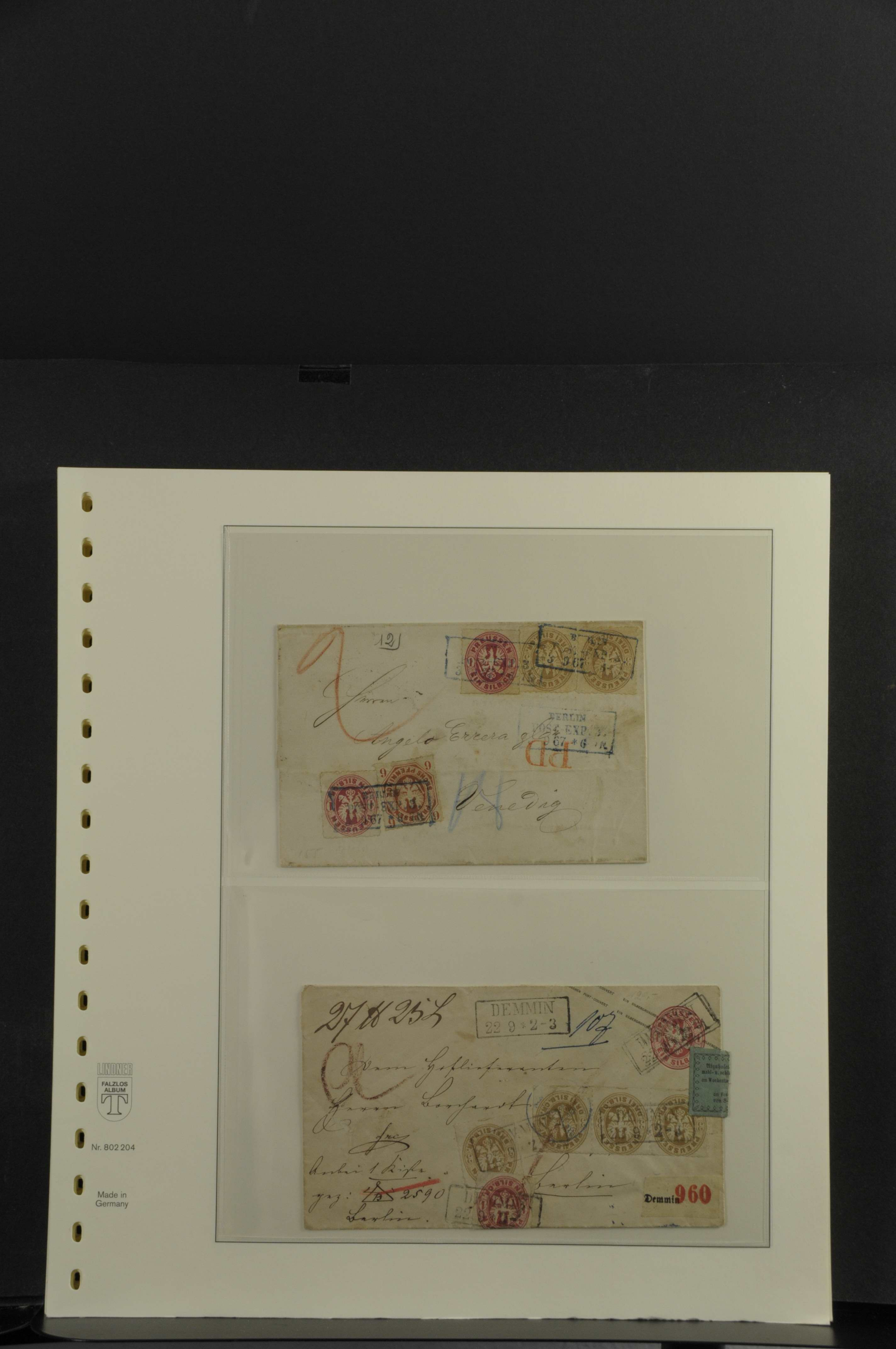 Lot 7878 - altdeutschland Preussen - Briefe -  Auktionshaus Ulrich Felzmann GmbH & Co. KG Auction 165 | Philately, Airmail, Zeppelinmail and Astrophilately, international,  German and collections.