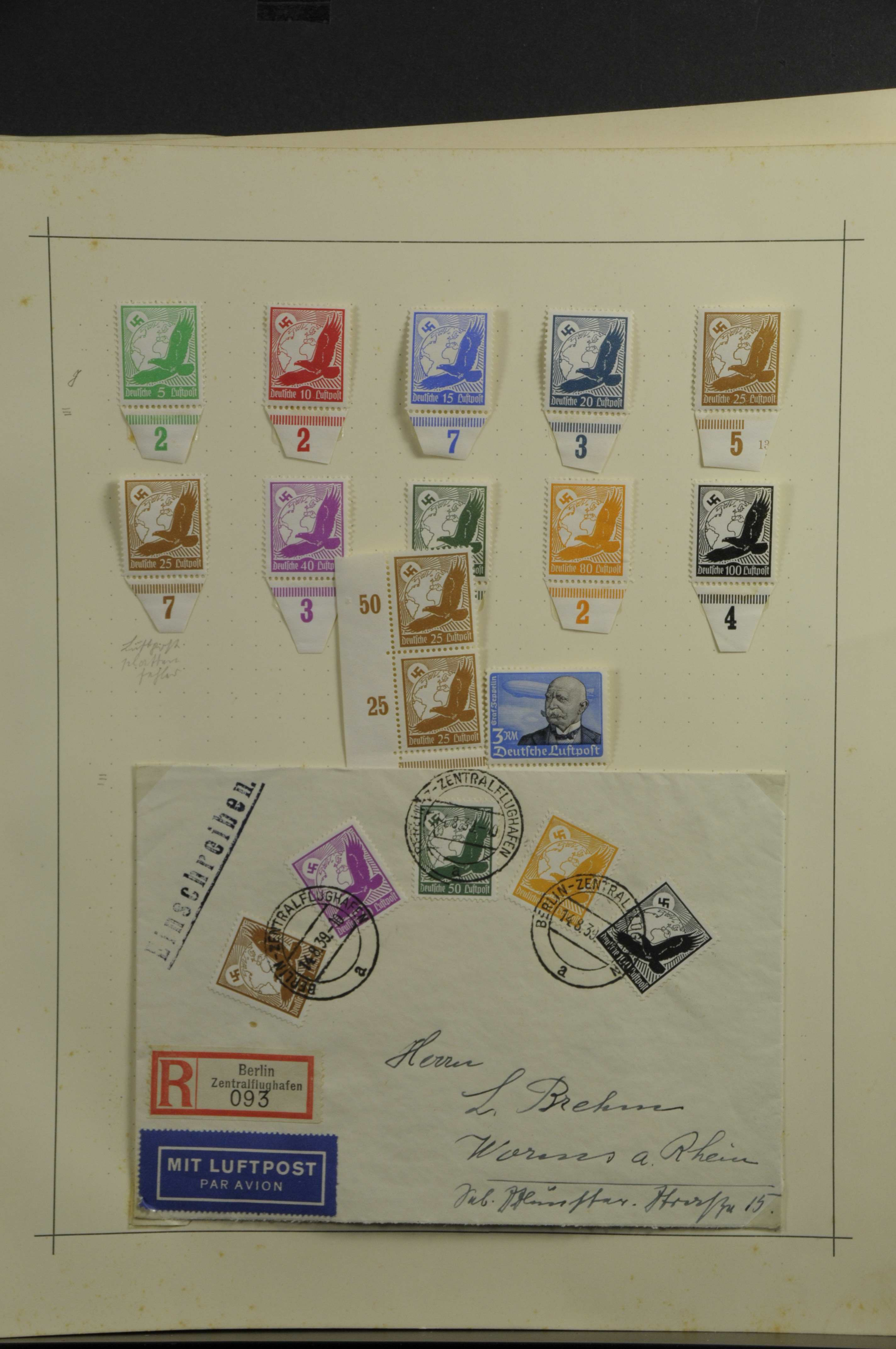 Lot 7903 - Deutsches Reich Allgemein -  Auktionshaus Ulrich Felzmann GmbH & Co. KG Auction 165 | Philately, Airmail, Zeppelinmail and Astrophilately, international,  German and collections.