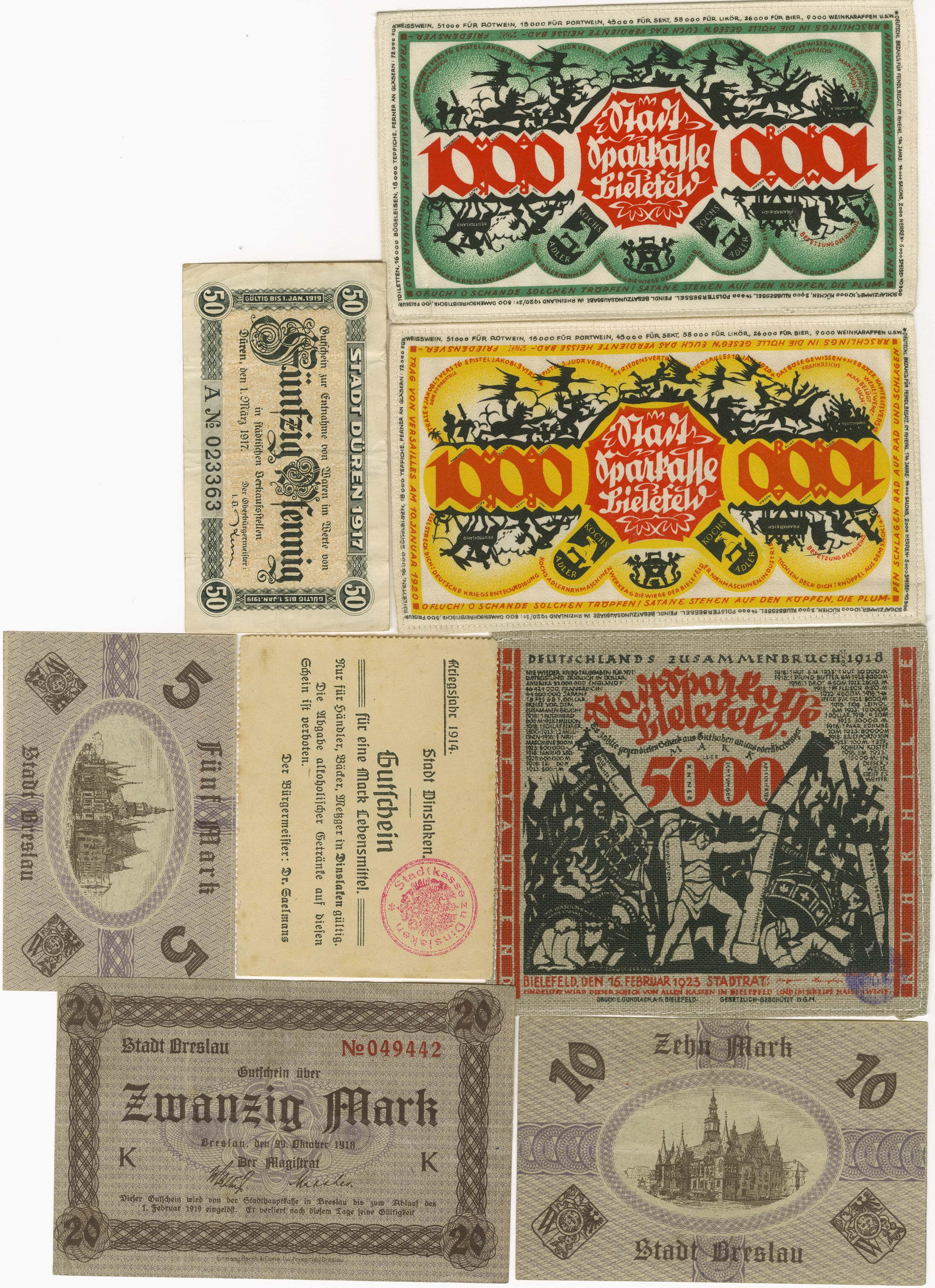 Lot 9457 - sammlungen Notgeldscheine 1914-1923 -  Auktionshaus Ulrich Felzmann GmbH & Co. KG Coins single lots