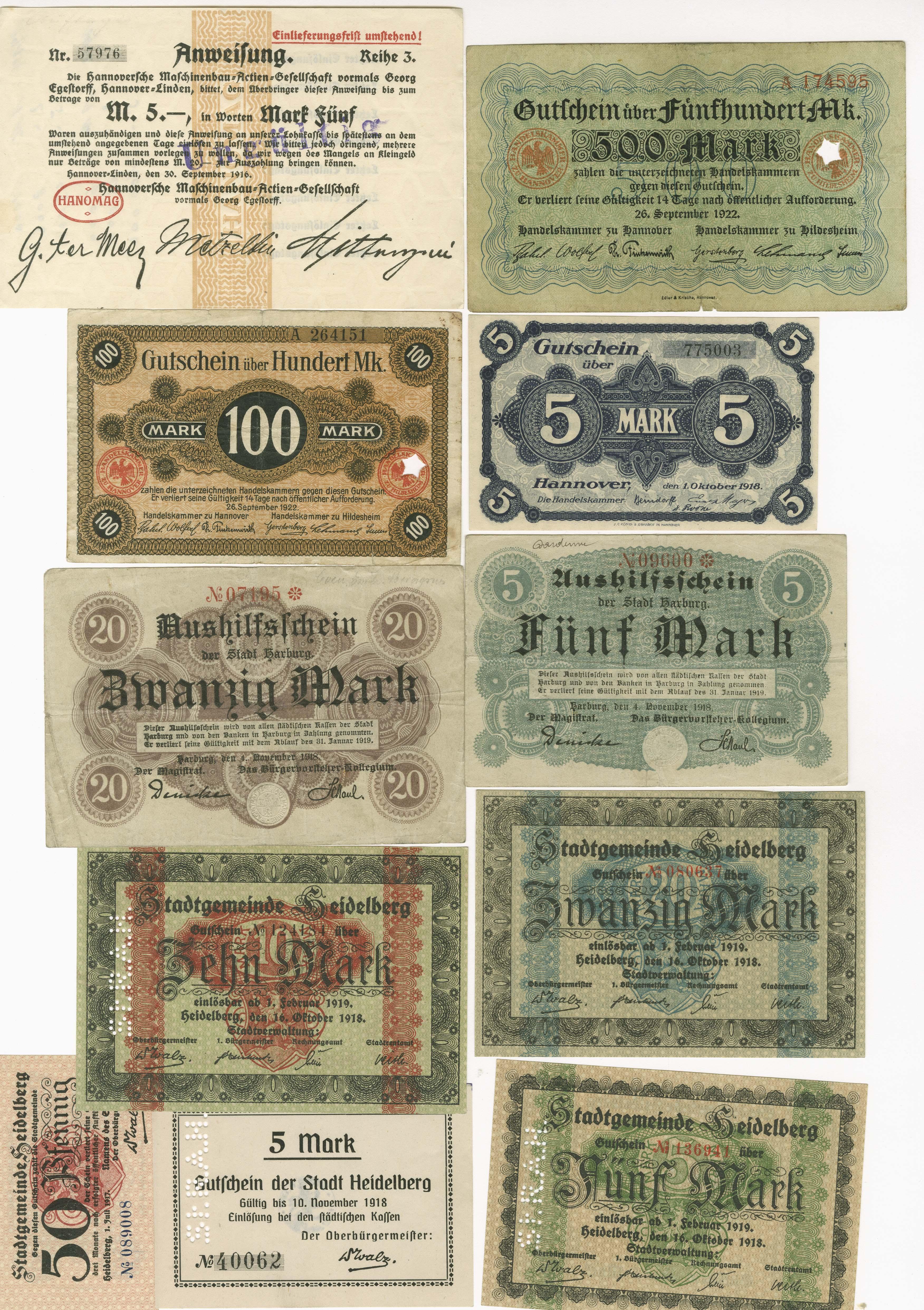 Lot 9466 - sammlungen Notgeldscheine 1914-1923 -  Auktionshaus Ulrich Felzmann GmbH & Co. KG Coins single lots