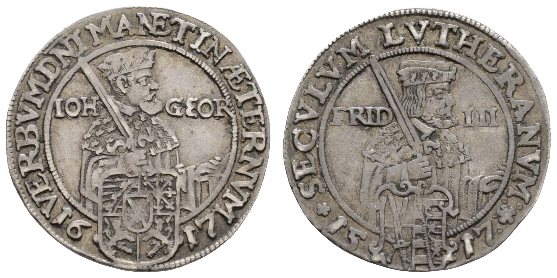 Lot 534 - Deutschland bis 1799 Sachsen  -  Auktionshaus Ulrich Felzmann GmbH & Co. KG Auction 169