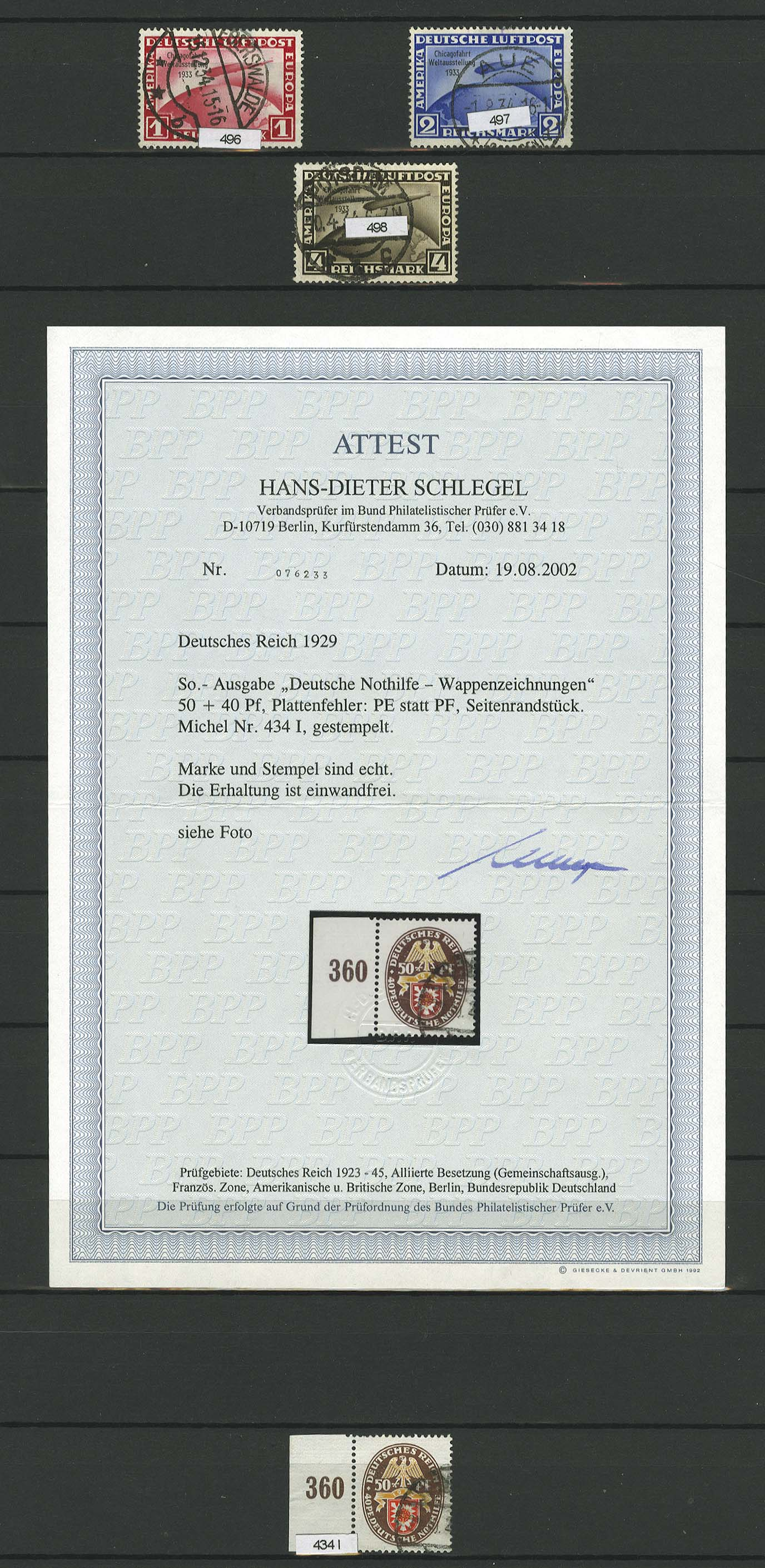 Lot 7113 - Deutsches Reich Allgemein S -  Auktionshaus Ulrich Felzmann GmbH & Co. KG Auction 169