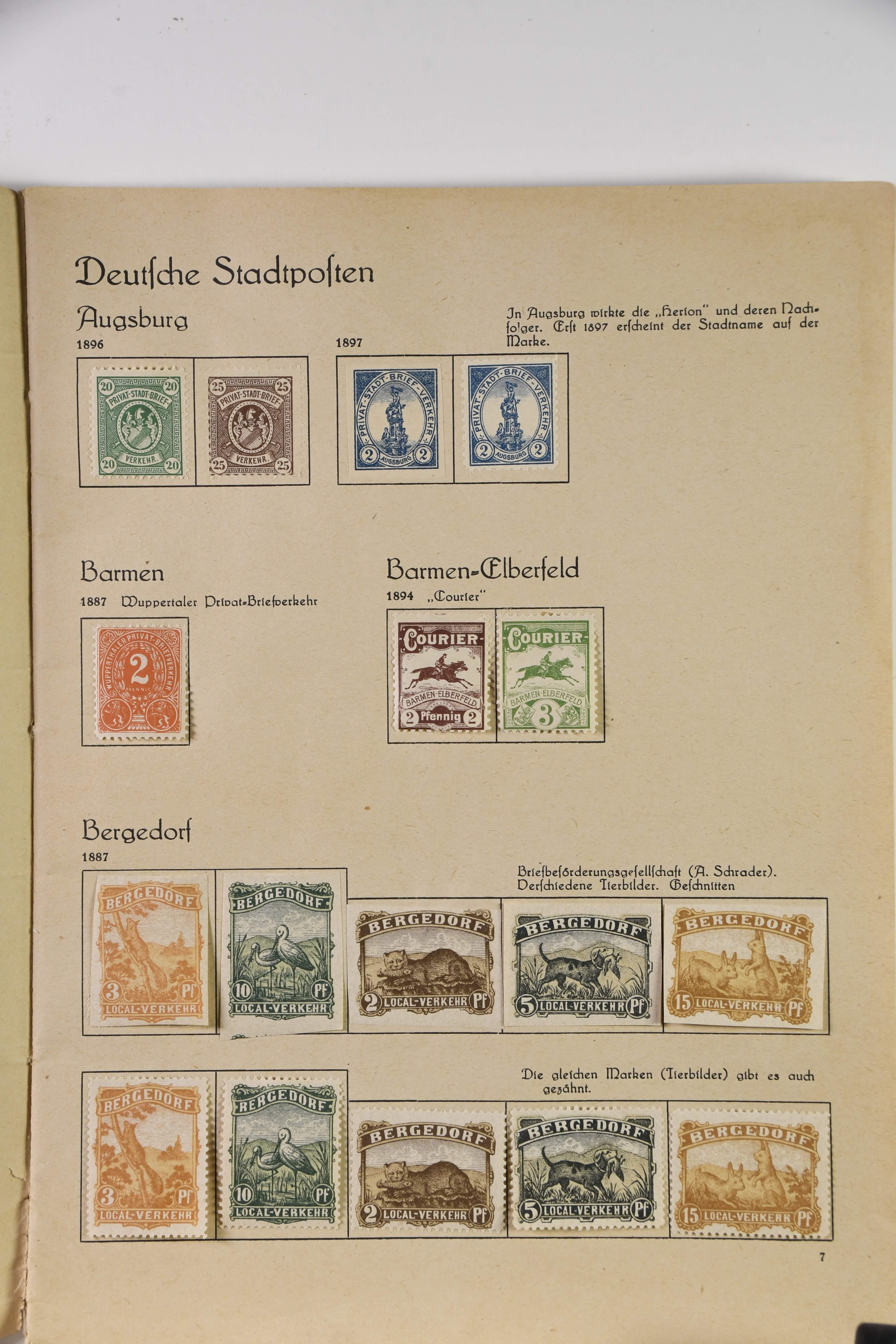 Deutsche Privatpostanstalten A-Z